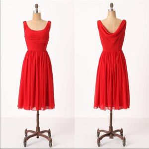 Anthropologie Red Gracias Dress: Moulinette Soeurs